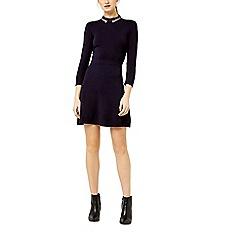 Warehouse - Pearl embellished collar dress