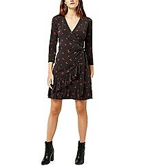 Warehouse - Cherry spot frill dress
