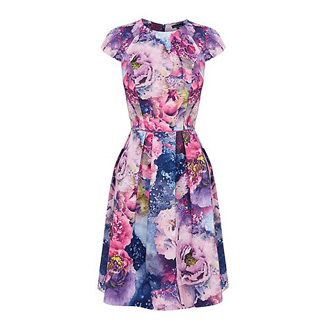 Warehouse - Floral pleated dress