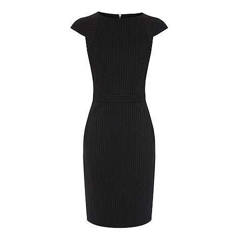 Warehouse - Multi pinstripe dress