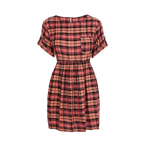 Warehouse - Check smock dress