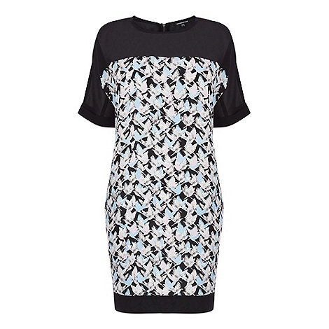 Warehouse - Textured bird t-shirt dress