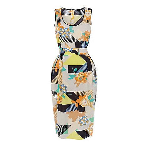 Warehouse - 80+s floral midi dress