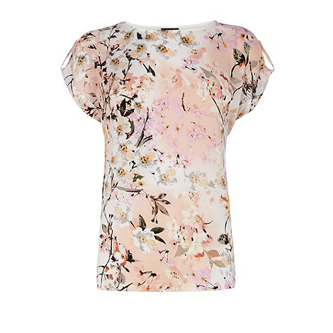 Warehouse - Trailing floral print tee