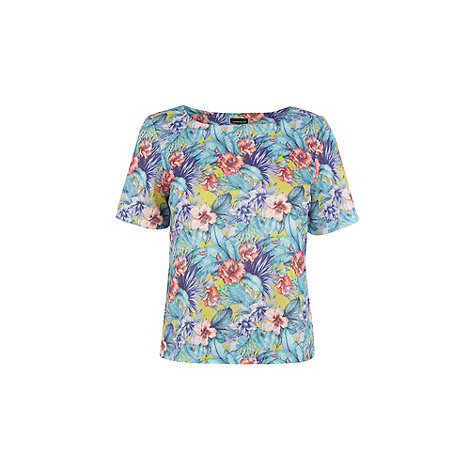 Warehouse - Tropical floral textured tee