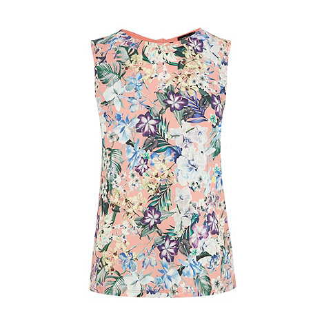Warehouse - Tropical floral print shell