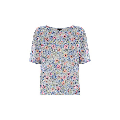 Warehouse - Ditsy floral print half sleeve tee