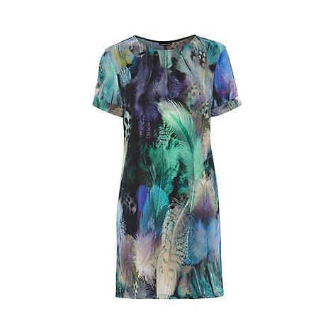 Warehouse - Feather print tunic dress