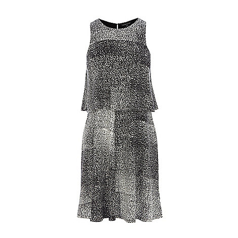 Warehouse - Mono print 2 layer dress