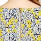 Warehouse - Floral textured crepe shift dress Alternative 4