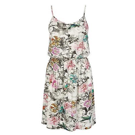 Warehouse - Hummingbird print sun dress