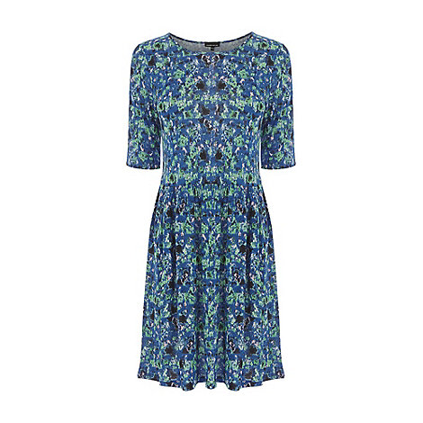 Warehouse - Blurred floral print day dress