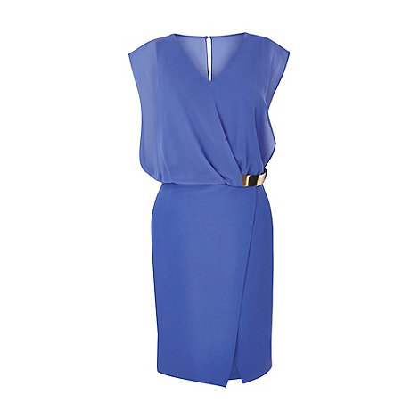 Warehouse - Wrap belted dress