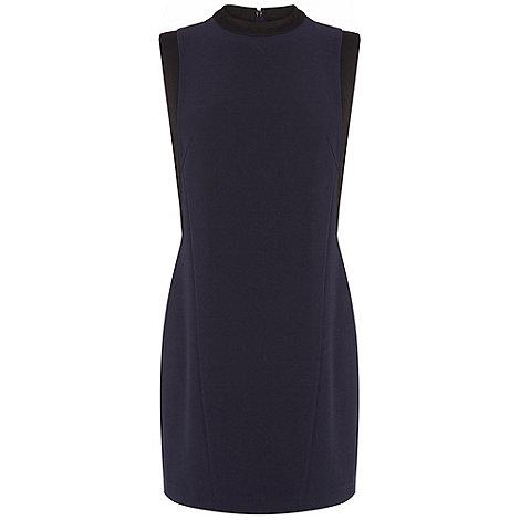 Warehouse - High neck satin panel shift dress