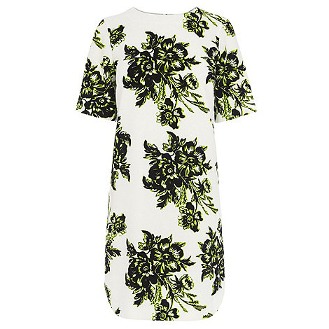 Warehouse - Giant floral crepe shift