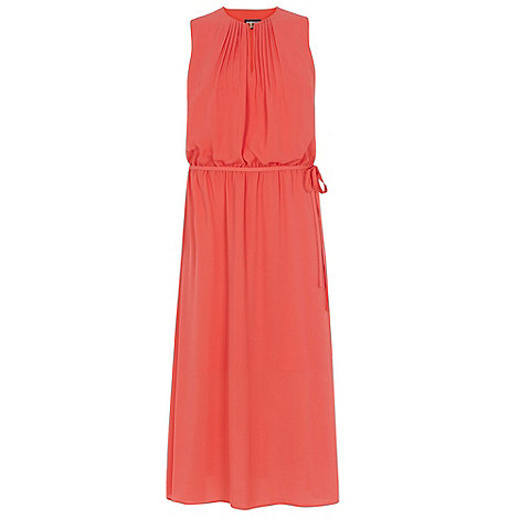 Warehouse - Pintuck neck midi dress