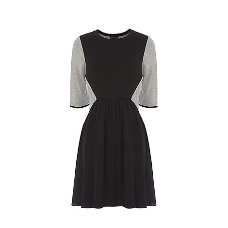 Warehouse - Jersey paneled skater dress