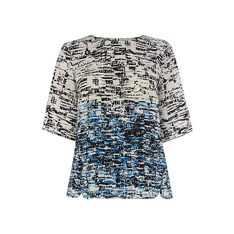 Warehouse - Border texture print tee