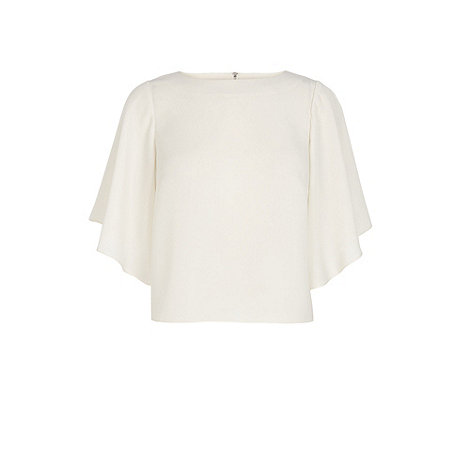 Warehouse - Fluted sleeve cropped tee