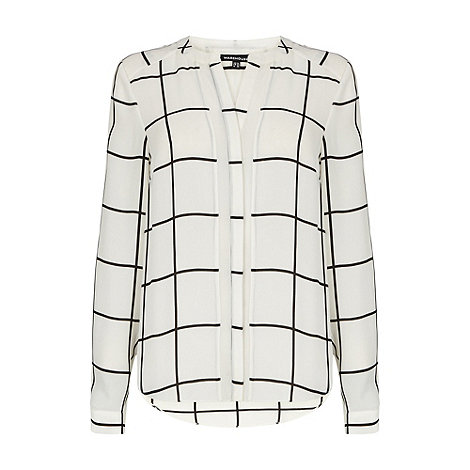 Warehouse - Window pane check blouse