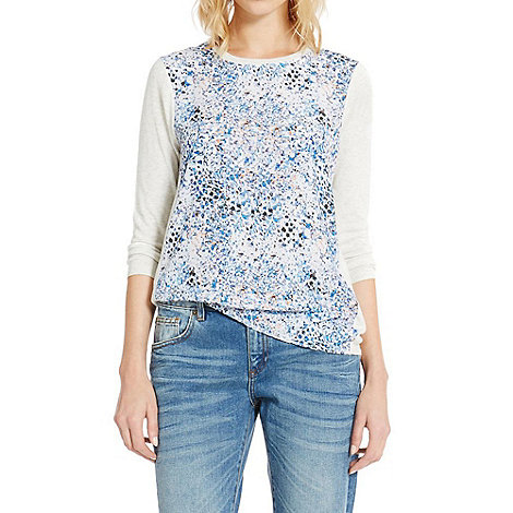 Warehouse - Anvers print woven front jumper