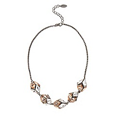 Coast - Peach and crystal necklace