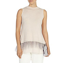 Coast - Nori feather hem knit top