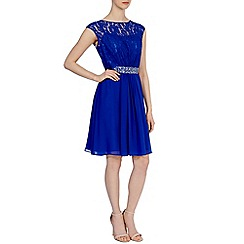 Coast - Blue 'Lori Lee' lace short dress
