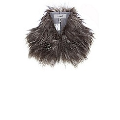 Coast - Bonnie brooch faux fur collar