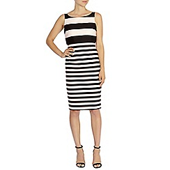 Coast - Prena stripe shift dress