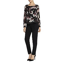 Coast - Winter lily printed trim top