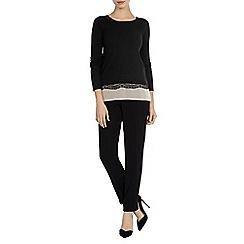 Coast - Bronya lace hem knit top