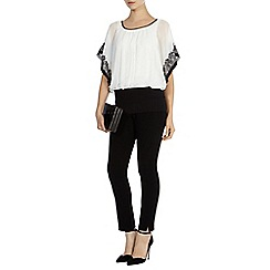 Coast - Kalila lace trim calla top