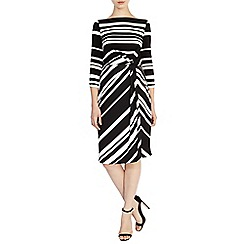 Coast - Jilly stripe crepe dress