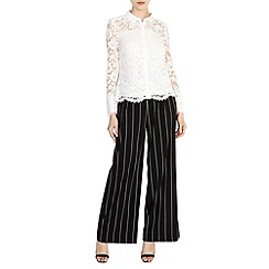 Coast - Lile stripe wide leg trousers