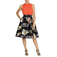 Coast - Palma print skirt