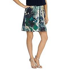 Coast - Rome floral mesh skirt