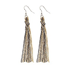 Coast - Evie plaited longline earrings