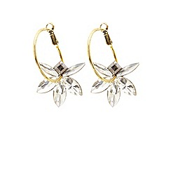 Coast - Floral hoop earrings