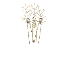 Coast - Abril floral hair pins