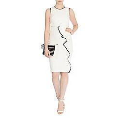 Coast - Lomax tipped crepe dress