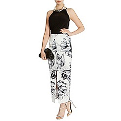 Coast - Marney mono floral maxi skirt