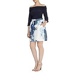 Coast - Neema print a line skirt