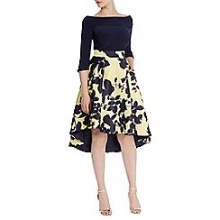 Coast - Zainy printed high low skirt