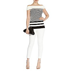 Coast - Valentina mono stripe knit top