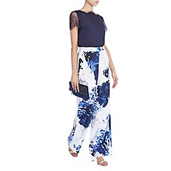 Coast - Debenhams exclusive 'China' Blue Print Trousers
