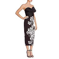 Coast - Persephone mono floral skirt