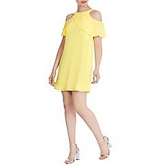 Coast - Yellow 'Marley-Anne' trim dress