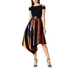 Coast - Fran Metallic Stripe Shorter Length Dress