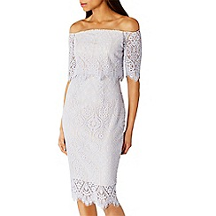 Coast - Silver Marsha lace dress